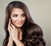 Glamorous Brunette Woman with Perfect Hairstyle Royalty Free Stock Images