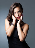 Glamorous Caucasian Woman Royalty Free Stock Images