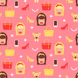 Glamorous chicks pattern Royalty Free Stock Photo