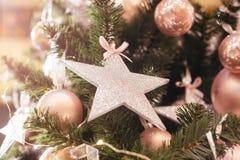 Glamorous Christmas tree. Pink balls Stock Photography
