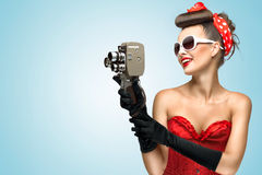 The glamorous cinema is coming hot. Royalty Free Stock Image