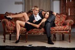Glamorous couple Stock Images