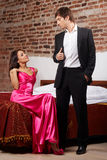 Glamorous couple Stock Images