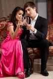 Glamorous couple Stock Photo