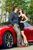 Glamorous couple Royalty Free Stock Photo