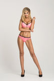 Glamorous curvy blonde woman Royalty Free Stock Photos