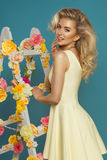 Glamorous curvy blonde woman Stock Photos