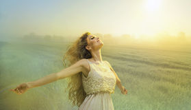 Glamorous curvy blonde woman Royalty Free Stock Image