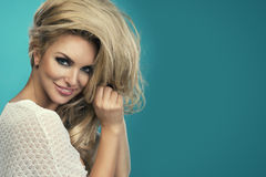 Glamorous curvy blonde woman Stock Photography
