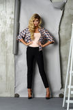 Glamorous curvy blonde woman Stock Photo