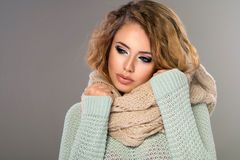 Glamorous curvy blonde woman Royalty Free Stock Images