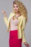 Glamorous curvy blonde woman Stock Image
