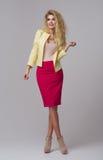 Glamorous curvy blonde woman Royalty Free Stock Image