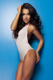 Glamorous curvy brunette woman Stock Images