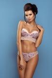 Glamorous curvy brunettewoman Royalty Free Stock Photo