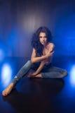 Glamorous curvy brunettewoman Stock Photography