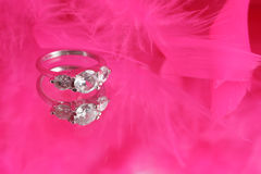 Glamorous diamond ring Royalty Free Stock Photography