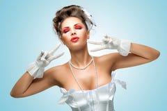 Glamorous gape. Royalty Free Stock Image