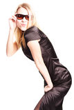 Glamorous girl. Beautiful girl in glasses Royalty Free Stock Photography