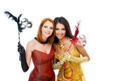 Glamorous girls Royalty Free Stock Photos