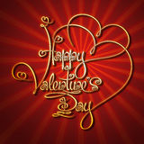 Glamorous Gold - Happy Valentines Day Stock Photos