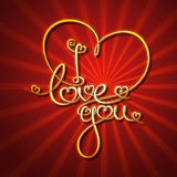 Glamorous Gold - I Love You Royalty Free Stock Image