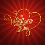 Glamorous Gold - Valentines Day Stock Photo