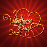 Glamorous Gold - Valentines Day Stock Photos