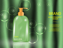 Glamorous Hair and Body Care Products Packages on the sparkling effects background. Royalty Free Stock Photography