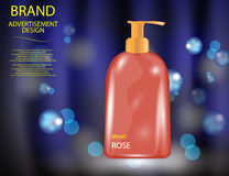 Glamorous Hair and Body Care Products Packages on the sparkling effects background Royalty Free Stock Photography