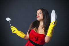 Glamorous housewife Royalty Free Stock Image