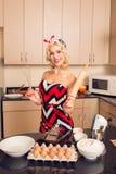 Glamorous housewife Stock Photo