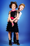 Glamorous kids Royalty Free Stock Photos