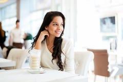 Glamorous lady drinking coffee Royalty Free Stock Photo