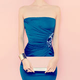 Glamorous lady. Evening Dress Royalty Free Stock Image