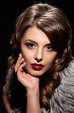 Glamorous lady portait close Stock Image