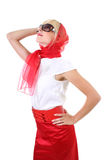 Glamorous lady in red Stock Photos