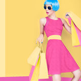 Glamorous lady shopping Stock Photo