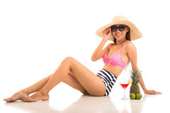 Glamorous lady on vacations Royalty Free Stock Images