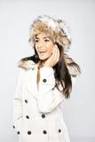 Glamorous Laughing Woman On Mobile Phone Royalty Free Stock Image