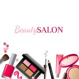 Glamorous make-up background Stock Image
