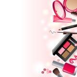 Glamorous make-up background stock illustration