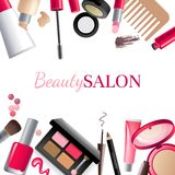 Glamorous make-up background vector illustration