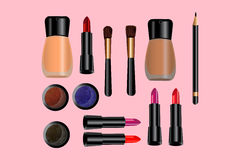 Glamorous make-up icons set - vector Royalty Free Stock Images