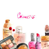 Glamorous make up watercolor cosmetics Stock Photos