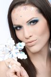 Glamorous makeup on young beauty Royalty Free Stock Image