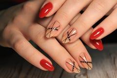 glamorous manicure nails royalty free stock photography
