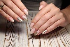 glamorous manicure of nails Royalty Free Stock Photo