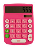 Glamorous pink calculator. With figure on the display 555 Stock Images