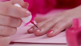 Glamorous pink office for women stock video